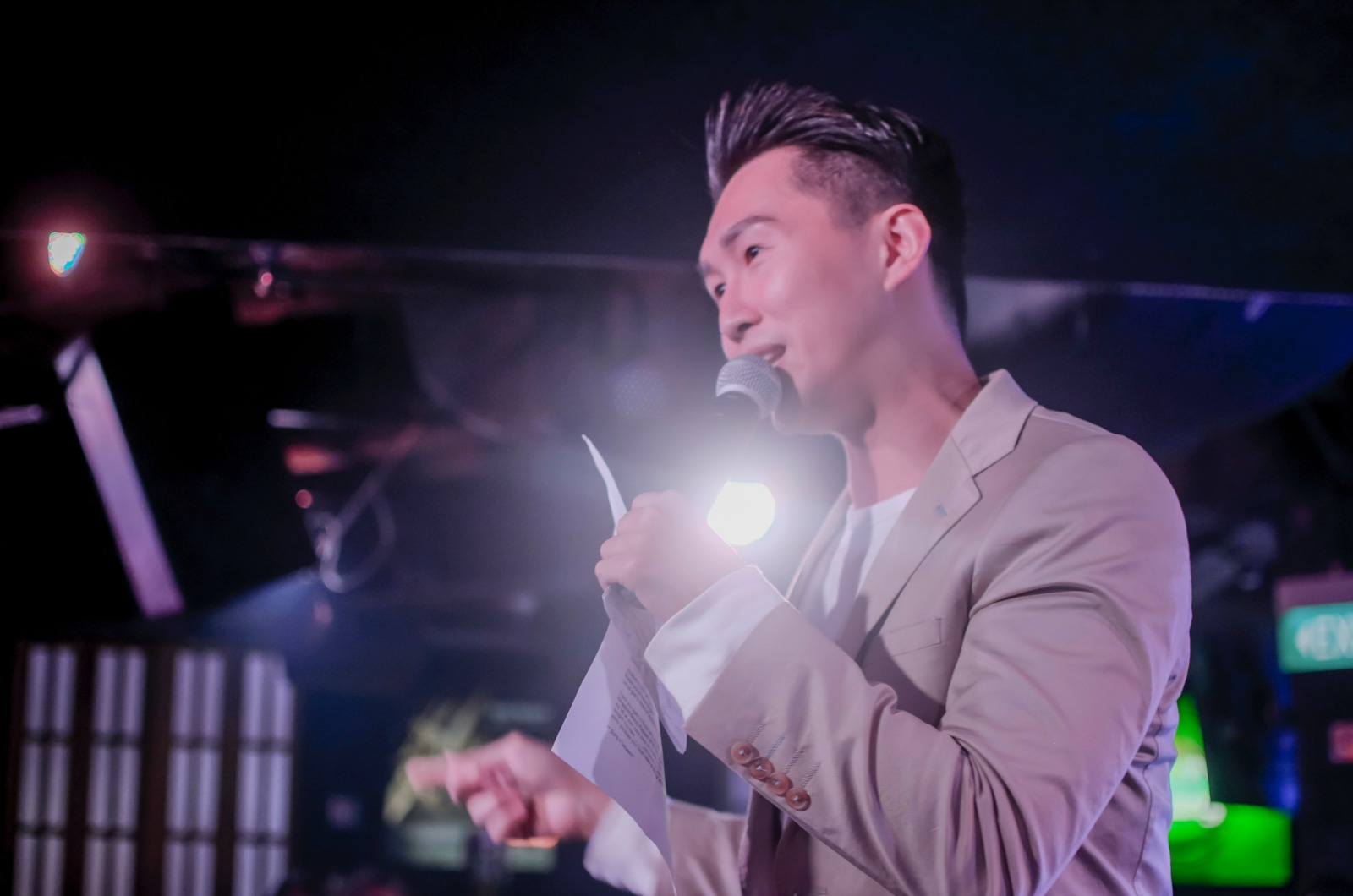 Jim Koh hosting for Miss Singapore Beauty Pageant 2018